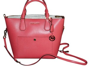 Michael Kors Satchel in Watermelon/Luggage
