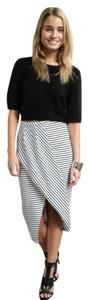 Faith in Love Striped Skirt White/Black