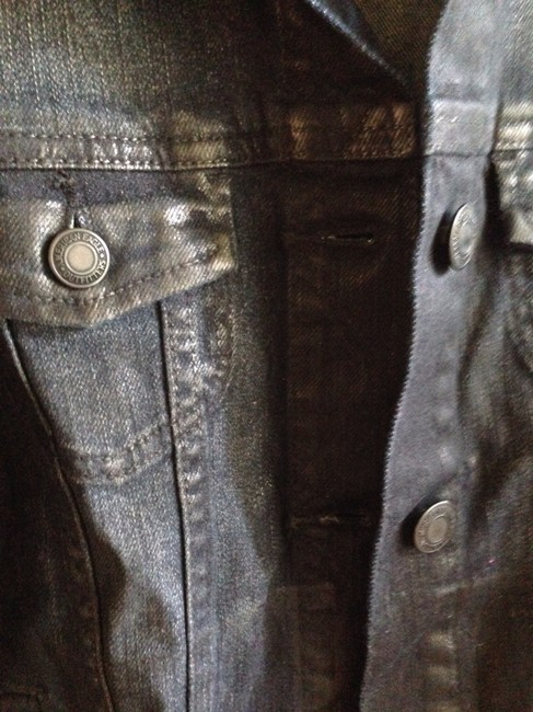 American Eagle Outfitters Sheen Coated Denim Womens Jean Jacket