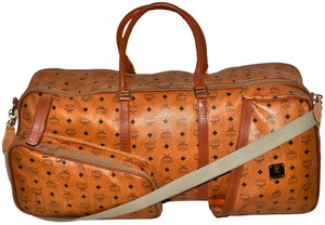 MCM Modern Creation Munich Modern Creation Munchen Made In Germany Visetos Visetos Pattern Monogram Monogram Monogram Coganc Brown Travel Bag