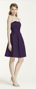 David's Bridal Lapis Cotton Polyester 83312bq Strapless Feminine Bridesmaid/Mob Dress Size 4 (S)