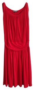 Express short dress Red Empire Waist Cotton Summer Hourglass Sleeveless on Tradesy