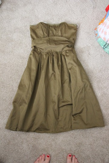 David's Bridal Fern Cotton Polyester 83312cf Strapless Casual Bridesmaid/Mob Dress Size 4 (S)