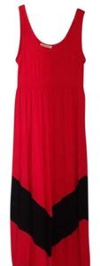 Red Maxi Dress by Color Me Red Chevron