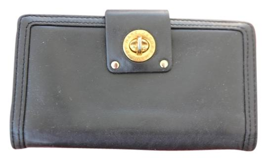 Marc Jacobs Marc by Marc Jacobs Black Leather Turnlock Wallet