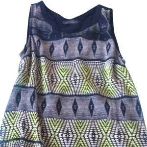 ASTR short dress green/blue/grey on Tradesy