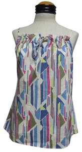 Gap Cami Spaghetti Top Multi Color Geometric Print