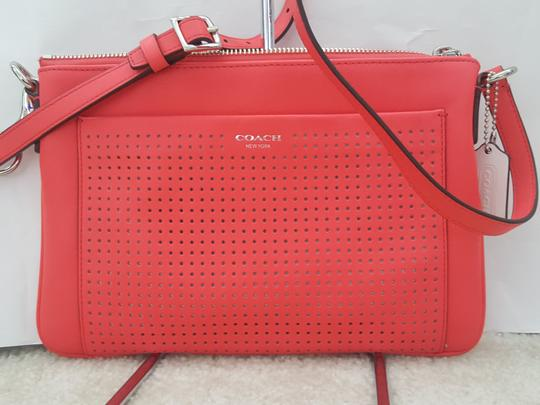 Coach Perforated Leather Vintage Swingpack Slim Cross Body Bag