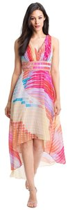 multi color Maxi Dress by Donna Morgan High Low Chiffon