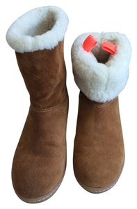 J.Crew Sheepskin Furry Brown & White Boots