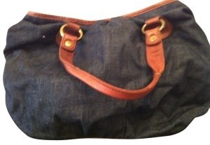 Lucky Brand Satchel in Blue Denim