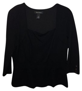 White House | Black Market Peplum Work Sexy Top Black
