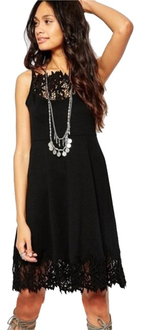 Free People short dress Black Fit Flare on Tradesy
