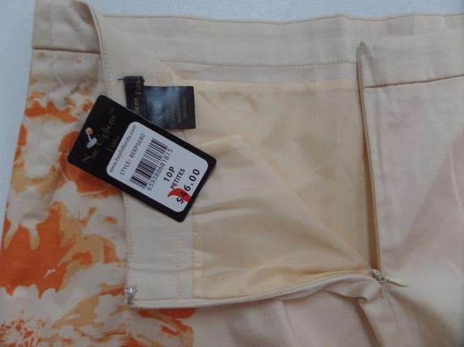 Other Nue Options Nwt Skirt Peach with Orange Floral Print