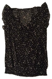 Express Going Out Polka Dot New Top Black