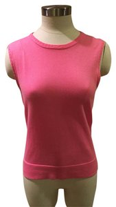 Lilly Pulitzer Going Out Sleeveless Pulitzer Sweater Top Pink