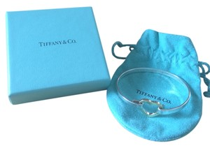 Tiffany & Co. Tiffany & Co. 18K Gold & Sterling Silver Heart Bangle