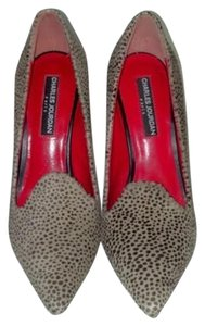 Charles Jourdan Cheetah Calf Hair Beige & Black Pumps