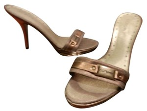BCBGeneration Leather Gold Sandals