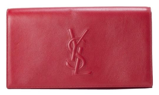 Saint Laurent Ysl Ysl Ysl Red Clutch