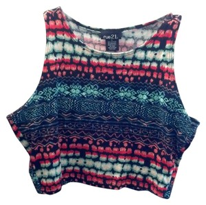 Rue 21 Hippie Vintage Boho Indie Crop Top Multi Color