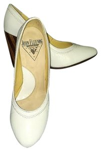 John Fluevog Blind Faith Nicolette White Pumps