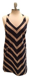 Anthropologie short dress Navy Striped on Tradesy