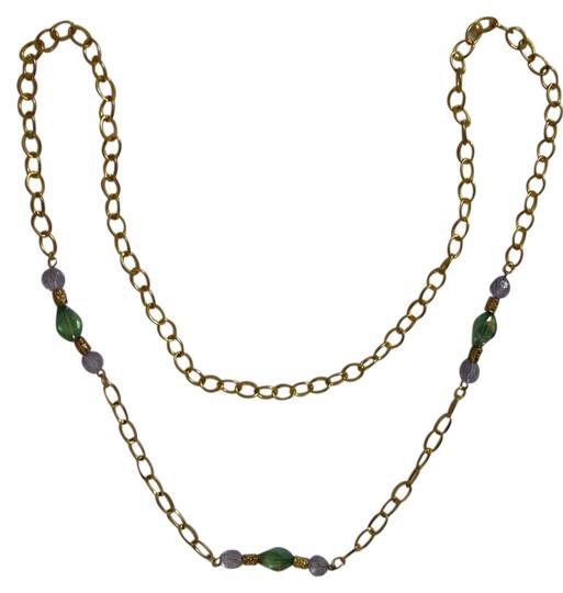 Preload https://item2.tradesy.com/images/gold-gold-tone-chain-link-40-long-green-blue-glass-inserts-necklace-3985936-0-0.jpg?width=440&height=440
