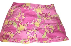 Lilly Pulitzer Mini Ruffle Floral Mini Skirt Pink Floral
