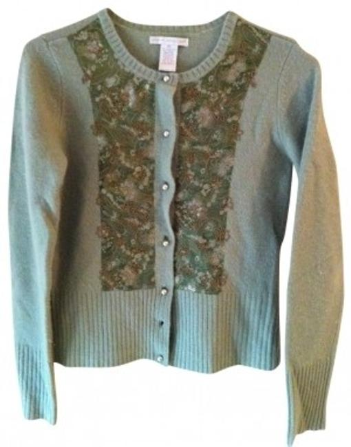 Preload https://item3.tradesy.com/images/sarah-spencer-green-lambswool-and-angora-cardigan-sweaterpullover-size-8-m-39862-0-0.jpg?width=400&height=650