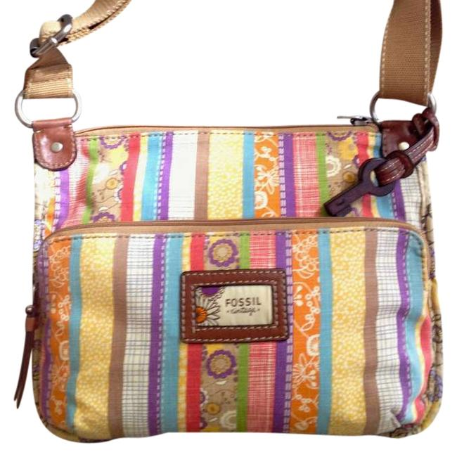 Item - Vintage Multi-colored Canvas Shoulder Bag
