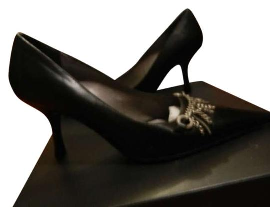 bellofatto Leather Black Pumps