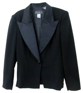 Alex Evenings Tuxedo Satin Black Blazer