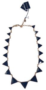 Juicy Couture Juicy Couture Pyramid Deco Style Collar Black & Gold Necklace