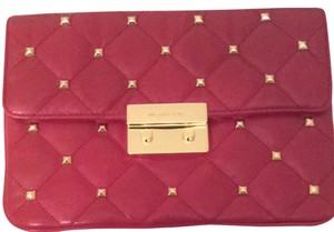 Michael Kors Red / Gold Clutch