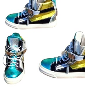 Giuseppe Zanotti Aqua, Navy, Yellow, white, Silver Athletic