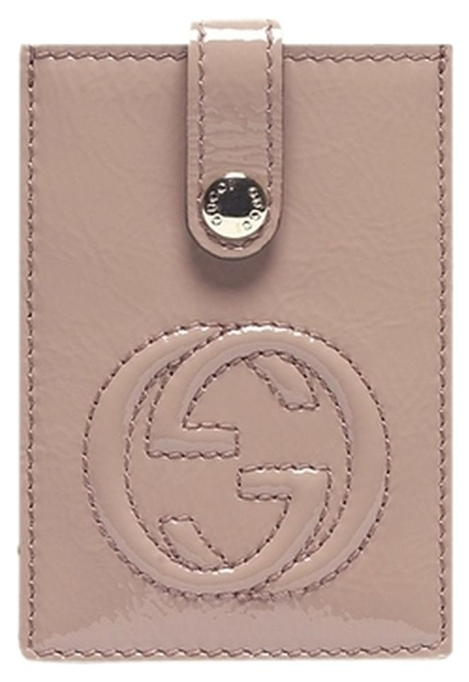 bf25638931672d Gucci Pink Soho 338331 Soft Patent Leather Card Case Wallet - Tradesy