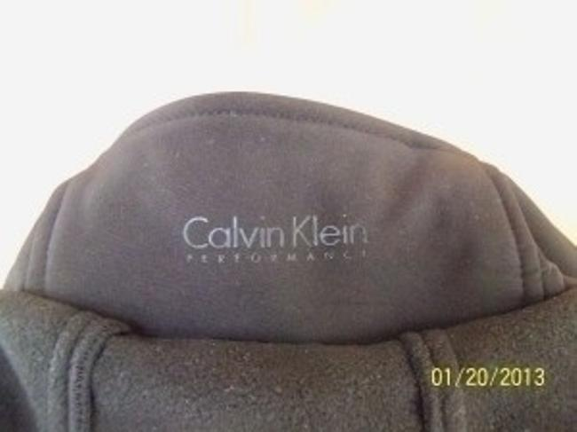 Calvin Klein Performance Zip Security Water Resistant Detachable Hood Four-way Stretch Black Jacket