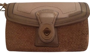 Coach Gold/tan Clutch