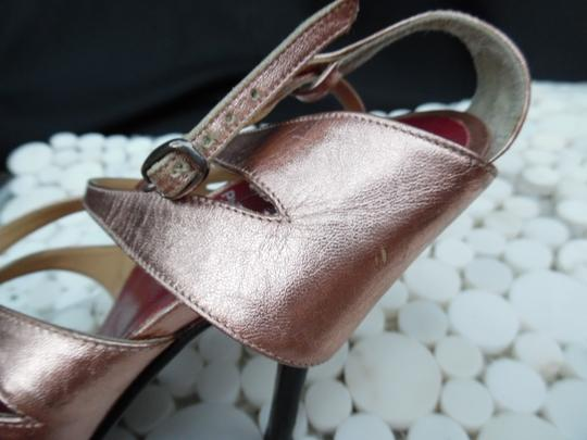 Pierre Hardy Hardy Stiletto Leather Bootie Gladiator Rose Gold Sandals