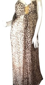 Braun Beige Maxi Dress by Romeo & Juliet Couture