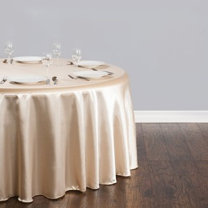 "Beige 16 X 118"" Round Table Cloths & White)"