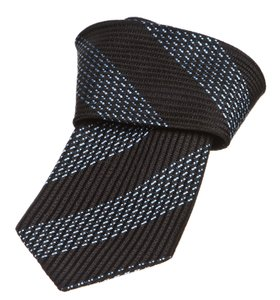 Ermenegildo Zegna Ermenegildo Zegna Blue And Black Men's Tie