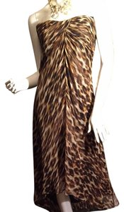 Brownand Beja Maxi Dress by L A U. N D R. Y by shelli segal 100%silk