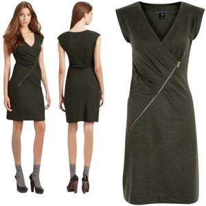 Marc Jacobs short dress Green Zipper Fitted on Tradesy