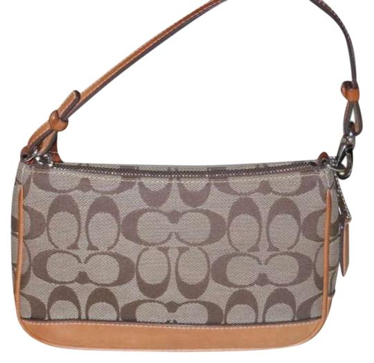 Preload https://item4.tradesy.com/images/coach-tan-matereal-and-leather-shoulder-bag-398903-0-0.jpg?width=440&height=440