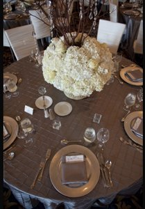Beautiful Pintuck Pewter Tablecloths