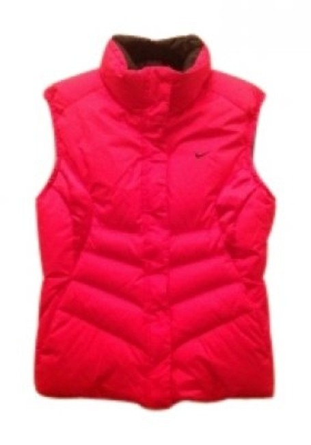Preload https://item4.tradesy.com/images/nike-strawberryblack-reversible-down-vest-size-8-m-39893-0-0.jpg?width=400&height=650