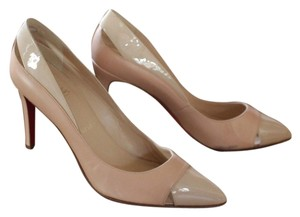 Christian Louboutin Tan Nude Leather Patent Beige Pumps