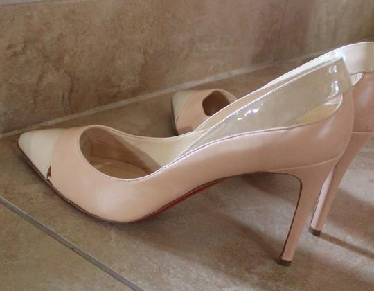 Christian Louboutin Tan Leather Stiletto Pointed Toe Beige Pumps